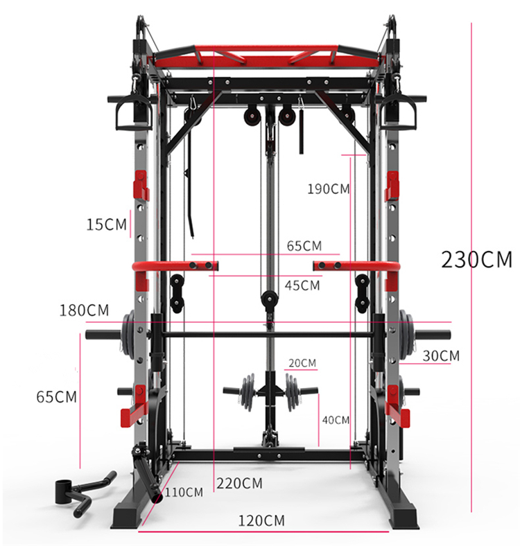 Factory Direct Multi-function Smith Machine Squat Rack