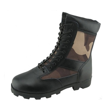Black leather fabric rubber sole