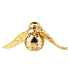 Винтажные маленькие кварцевые карманные часы, роскошные дизайнерские часы в стиле стимпанк с подвеской, цепочкой, мужские и женские подарк...(Китай)