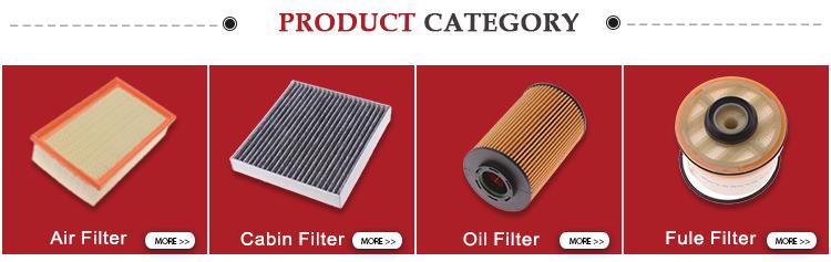 OEM China fabrikant kleurrijke hoge kwaliteit auto olie filters voor 04152-31090