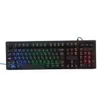 Punk Wired USB Ergonomic Led Rainbow Lighting Backlit Gaming 104 Keys Mechanical Feeling Gamer Keyboard