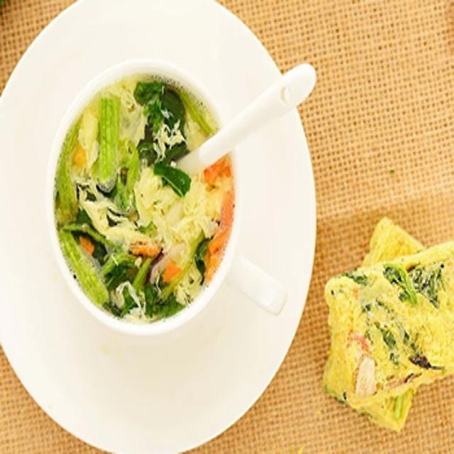 Свежие и вкусные морские водоросли суп здоровый напиток сублимированноемгновенное суп