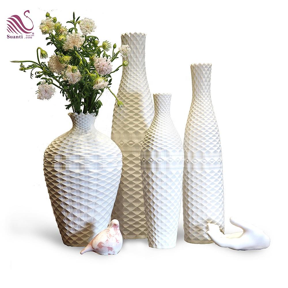 Suanti modern nordic table decor vase big antique decorative resin home decoration flower luxury wedding white vases set