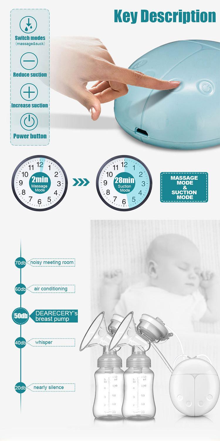 एफडीए को मंजूरी दी खाना ग्रेड व्यक्तिगत BPA मुक्त एकल बिजली डबल स्तन पंप