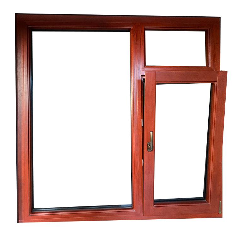 Double glazed Australian Standard  Customized aluminum glass tilt and turn window