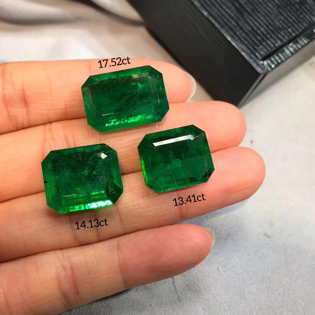 Natural Emerald Rough Stones Loose Gemstone In Zambian precious gems price per carat