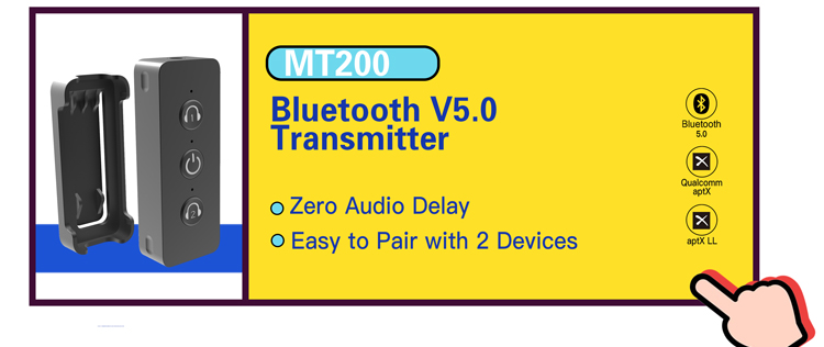 Low Audio Delay Bluetooth Receiver Transmitter for Bluetooth Streaming