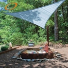 Plastic woven shade sail 90% shade sail beige shade canvas awning sail triangle shed cloth