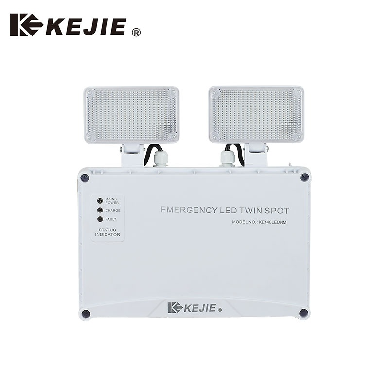 Hottest 2x3W led emergency twin spot IP65 3H battery back-up emergency light