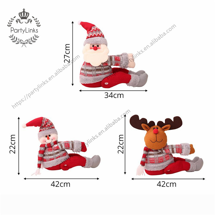 New Christmas Curtain Buckle Christmas Decorations Santa Claus Supplies Window Decoration Christmas Gifts Festive Atmosphere