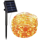 Outdoor Waterproof 10M Light String 100 Led Double Modes Christmas Halloween Solar Led String Lights For Holiday Decoration