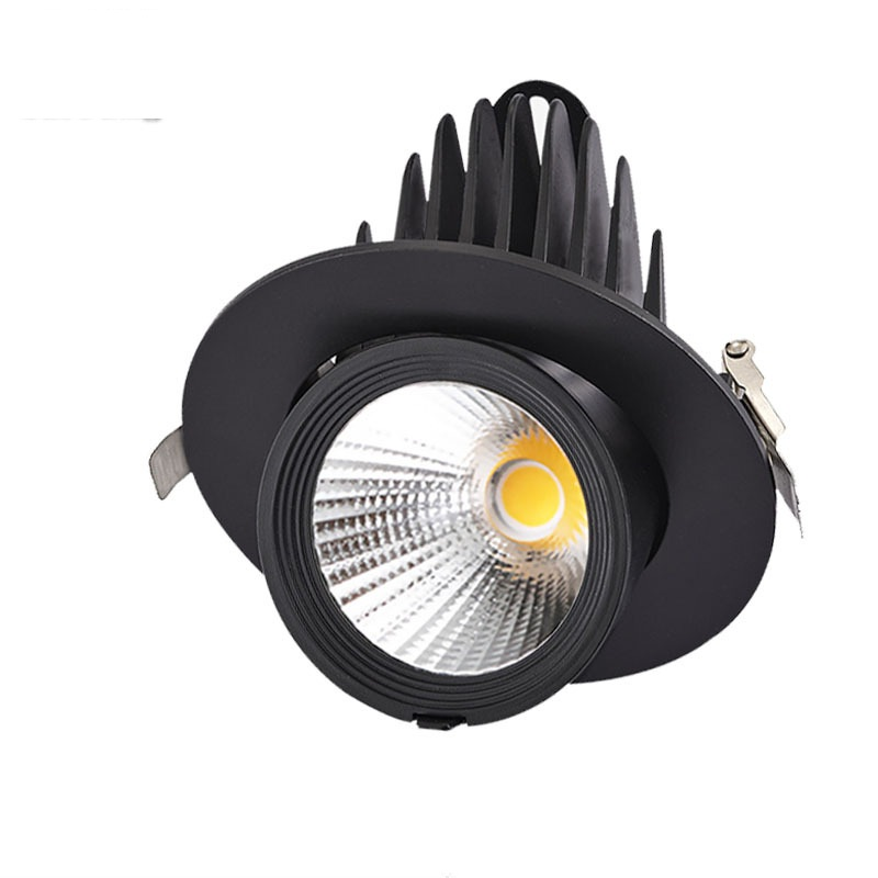 Good price factory stock 9W white black housing downlight ceiling lights 2.5inch mini spot light