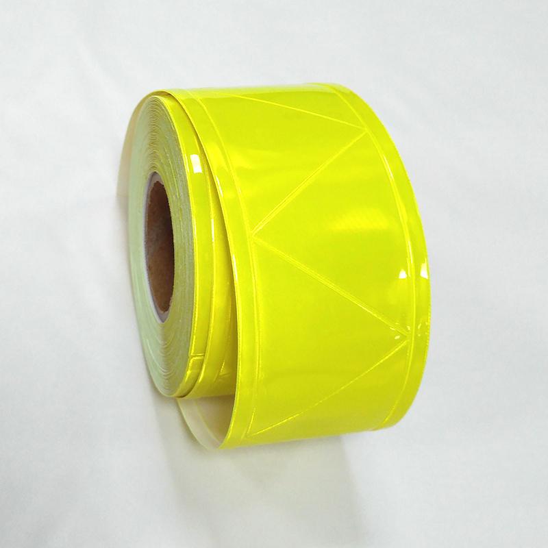 Domestic Fluorescent yellow PVC prismatic reflective tape