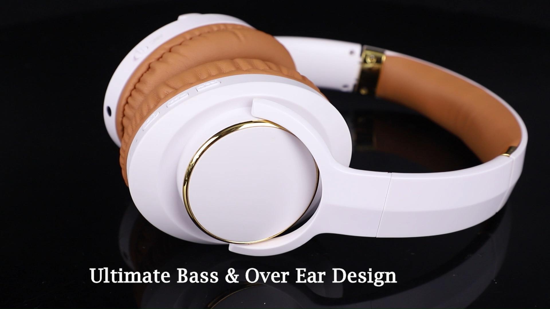工場直接販売プロモーションアクティブノイズキャンセリング耳ヘッドフォンコードレスancヘッドセット