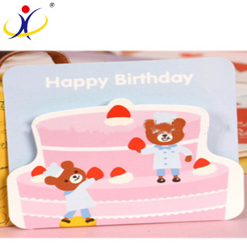 Full color printing greeting birthday card,best wishes happy birthday card,happy birthday card design