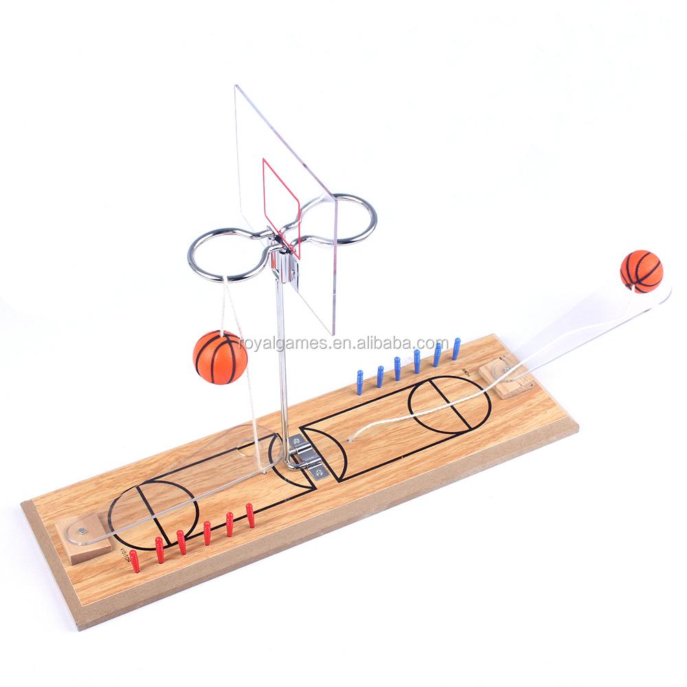 2 प्लेयर लकड़ी मिनी डेस्कटॉप बास्केटबॉल शूटिंग खेल खिलौना, टेबलटॉप मिनी बास्केटबॉल खेल