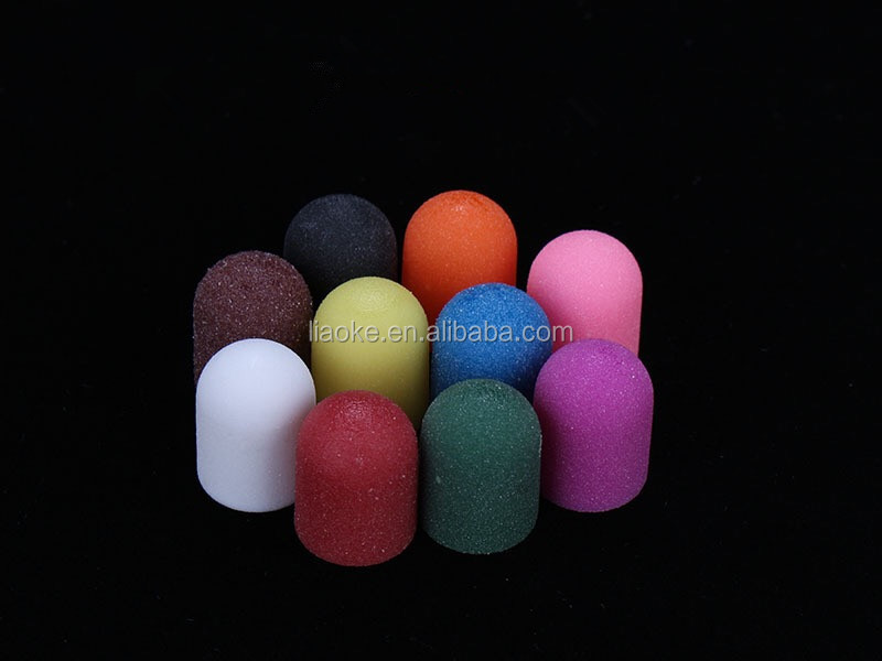 High Quality Colorful pedicure sanding cap for pedicure manicure nail