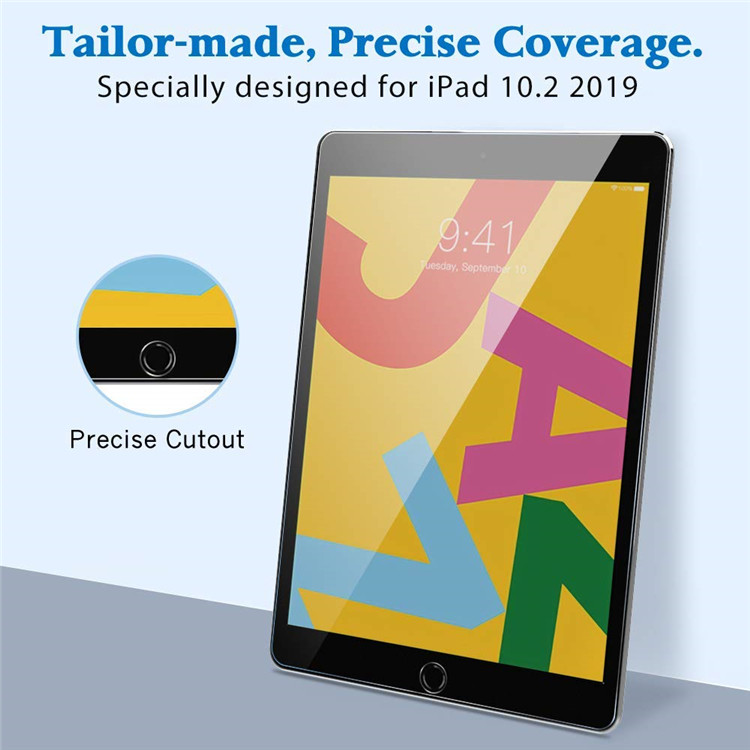 [9H Hardness] Tempered Glass Screen Protective Anti-Fingerprint Screen Protector for ipad 10.2 Inch (7th Gen 2019 Release)