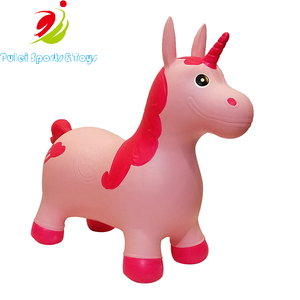 Customized color inflatable unicorn bouncy animals toys for kids riding