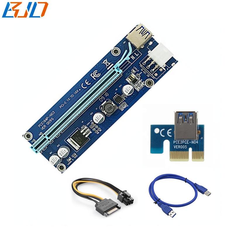 PCI-E Riser Ver 009s 6Pin Interface PCIe X1 to X16 Riser Card - GPU Riser in stock фото