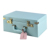 2020 New Style Elegant Sky Blue Portable Leather Makeup Suitcase Storage Boxes