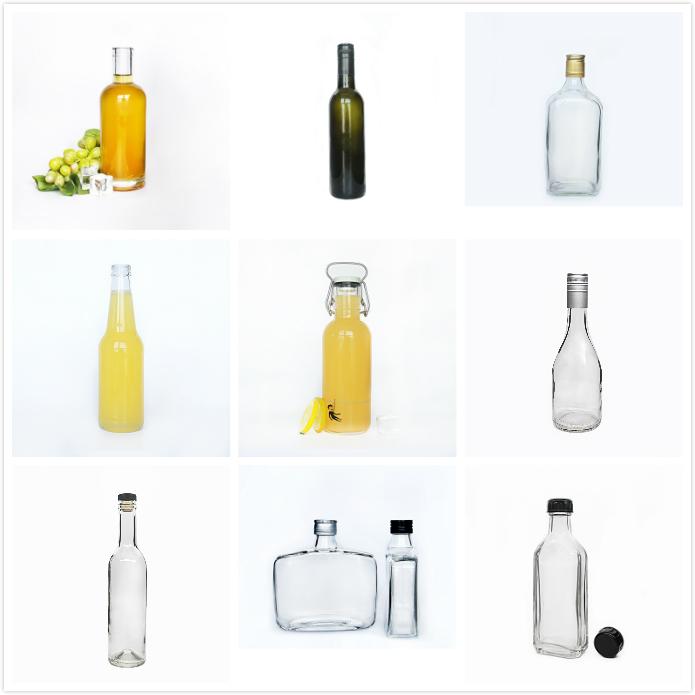 Kualitas Tinggi Bentuk Lucu 500Ml 750Ml Anggur Semangat Botol Kaca Minuman Beralkohol Kemasan dengan CorkVodak Botol