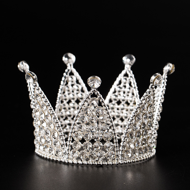 Wholesale luxury high quality full rhinestone tiaras bridal <strong>crowns</strong> for children birthday gift