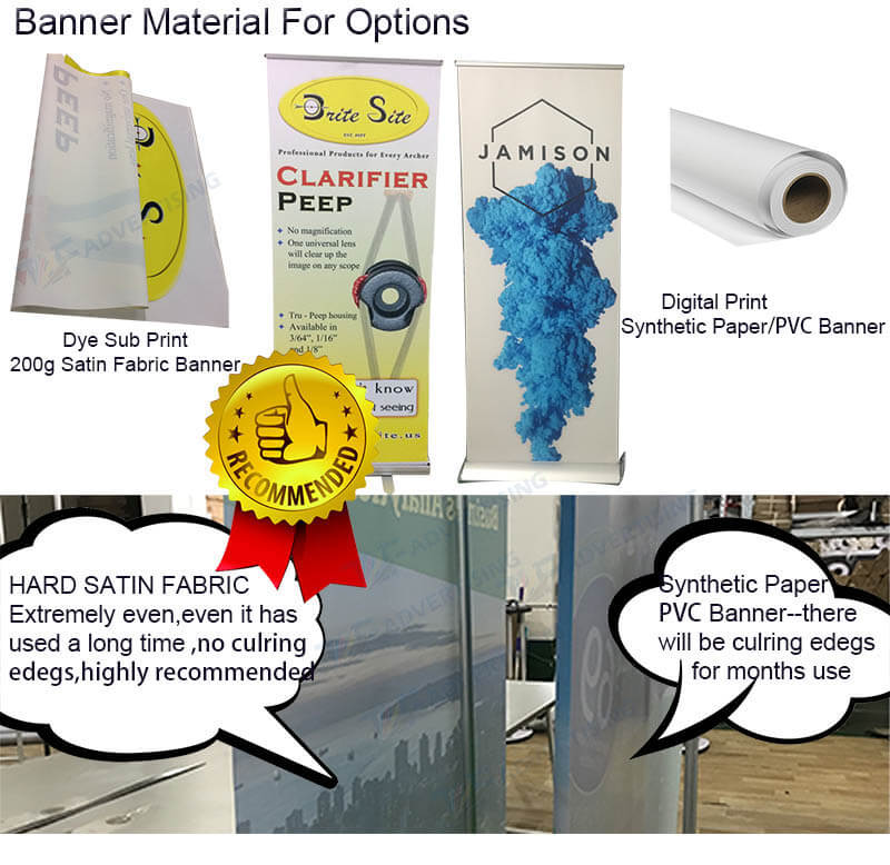 Customized Roll Up Retractable Banner Stand Digital Printing Economic Banner Roll-Up For Wholesale