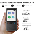 Portable Smart Two-way Real Time Black Multilanguage Electronic Voice Translator T9