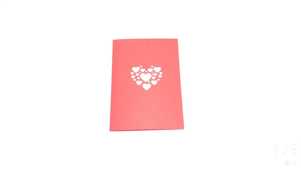 Creative Romantic Wedding Invitation Cards Design Laser Cut 3D Pop Up Card