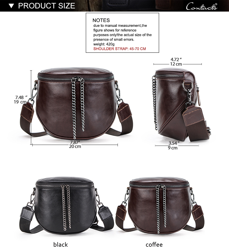 Custom Amazon hot selling cow leather womens messenger bag in wholesale price