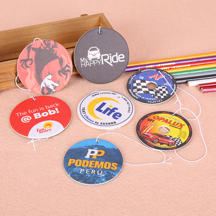 Eco Friendly Air Freshener รถแขวนกระดาษ Custom Car Air Freshener