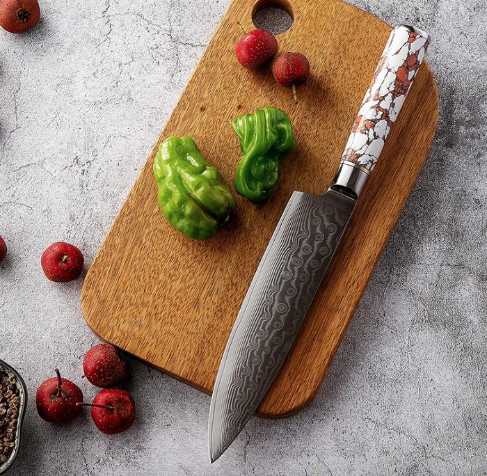 8inch hoge kwaliteit damascus Japanse koksmes vooral voor vrouw gebruik voor cut voedsel
