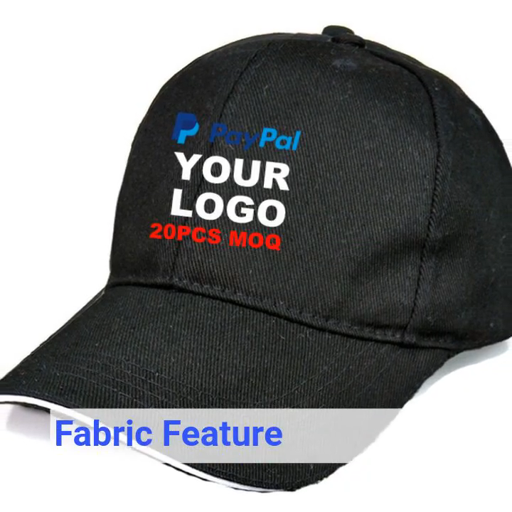 Broderie personnalisé votre logo 20 pièces quantité Minimum de commande 6 panneau casquettes de baseball personnalisé
