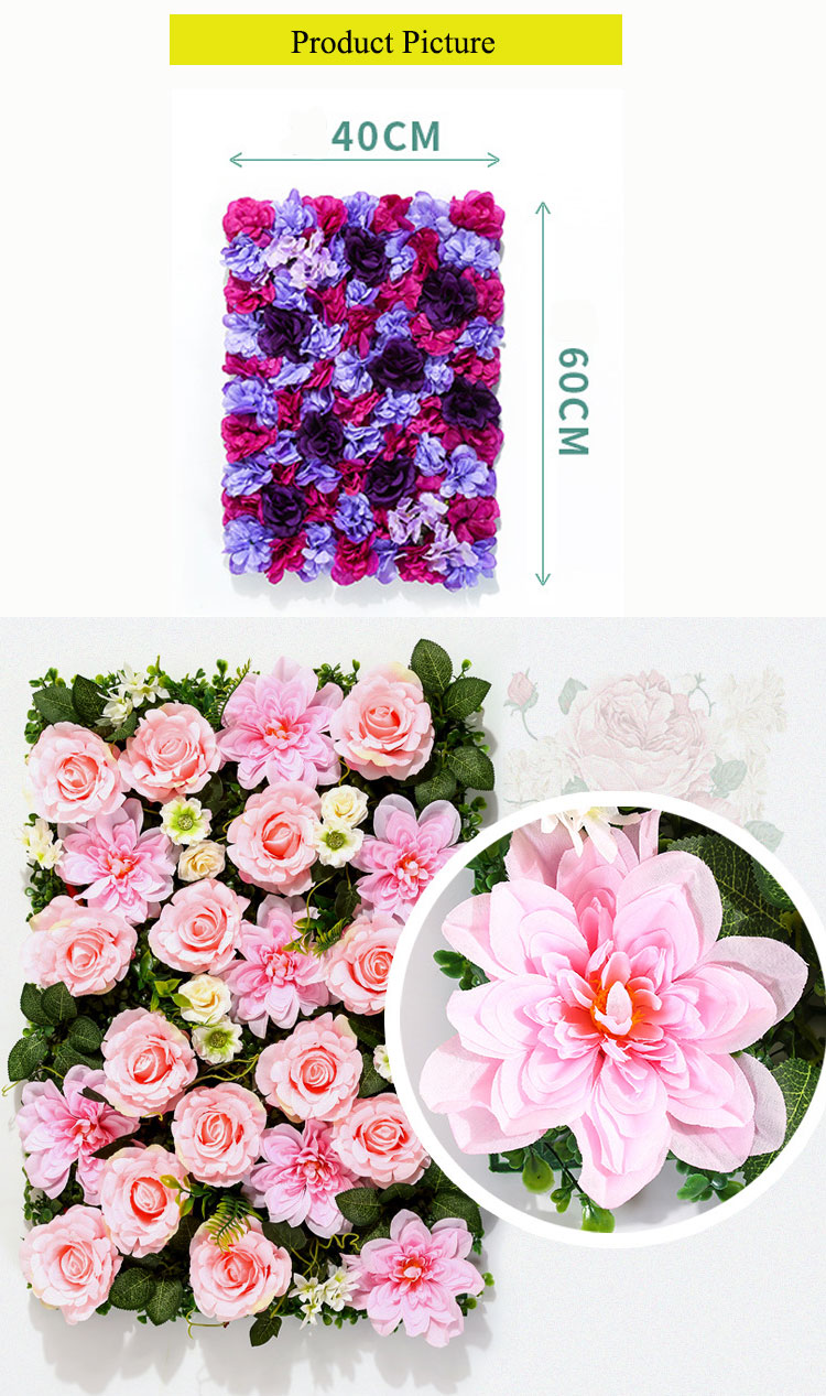 Artificial Rose Flower Wall  High Quality Wedding Stage Backdrop  For Decoration