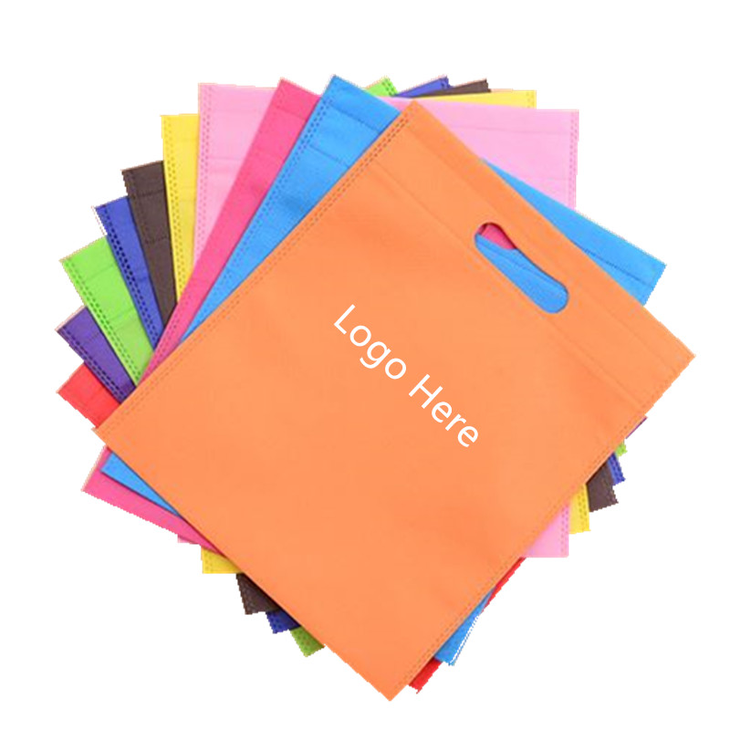 2019 New <strong>Promotional</strong> Colorful Customized Printed laminated <strong>promotional</strong> d cut non-woven shopping bag