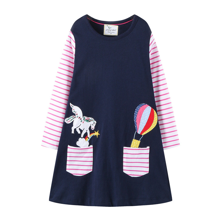 Wholesale spring striped Kids <strong>Frock</strong> Designs Girl Dresses Children long Sleeve <strong>Cotton</strong> <strong>Baby</strong> Girls Dress