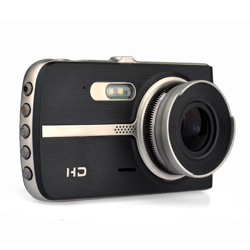 Kamera Dasbor Mobil Lensa Ganda IPS 4 Inci, Kamera Perekam DVR, Kamera Dasbor Mobil FHD 2020 P, Lensa Ganda IPS 1080 Laris