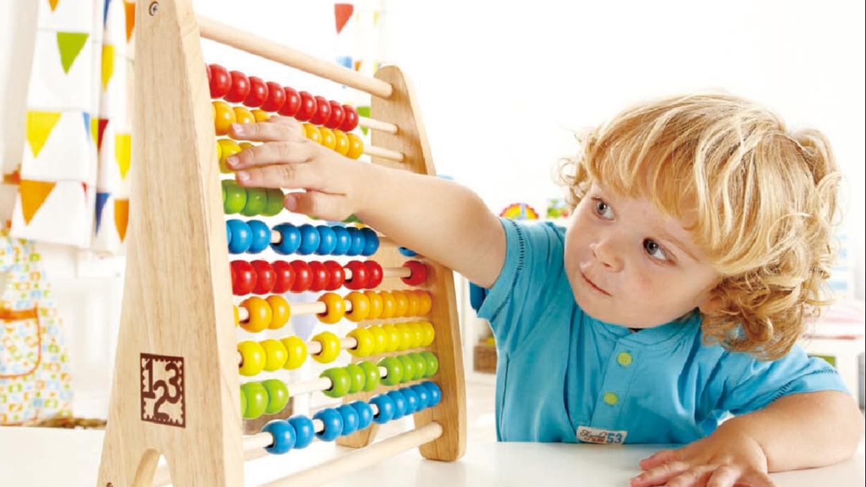 Hape Rainbow Beads Safety Water Based Paint Wooden Teacher Abacus,teacher Big Abacus