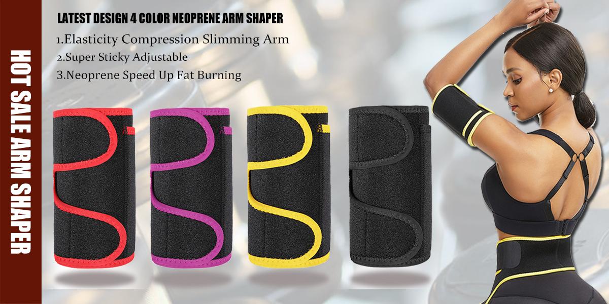 Compression Neoprene Slimming Upper Arm Shapewear Workout Jogging Wear Phone Pocket Women Arm Shaper