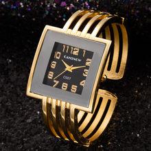 Женские часы-браслет, часы с золотым браслетом, квадратные женские часы Hodinky, кварцевые роскошные часы на запястье для женщин, Satti reloj mujer(Китай)