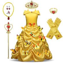 Платье для девочек; Рождественский карнавальный костюм Анны и Эльзы; Платье принцессы Эльзы для девочек; Вечерние платья для дня рождения; Д...(Китай)