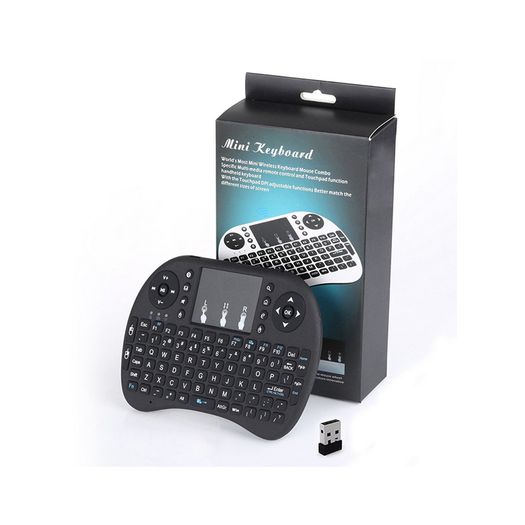 Disesuaikan Universal Mini Keyboard Nirkabel Backlit 3 Warna LED Portable Keyboard Laptop Keyboard untuk Kotak TV
