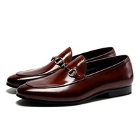 Hot Sale Slip-On Hand Made italian Genuine Leather Buckle Mens Dress Loafer Shoes