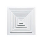 square ceiling diffuser / aluminum linear slot air diffuser hvac system with damper