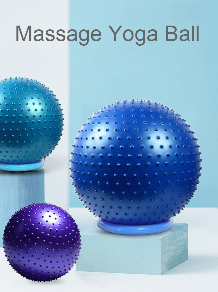 65cm Anti-Burst Spike Massage Yoga Ball for Yoga Pilates or Birthing Therapy