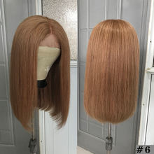 Сегодня только парики с фронтальным кружевом Bob короткие прямые парики с фронтальным кружевом 13х4 яркие цветные парики из человеческих воло...(Китай)