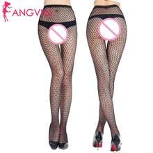 Женское сексуальное нижнее белье, ажурные колготки, черные прозрачные чулки(Китай)