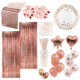 Nicro New Product 85PCS Rose Gold Kit Wedding Birthday Party Supplies