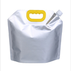Eco friendly custom aluminum foil liquid standing up pouch with spout water bag